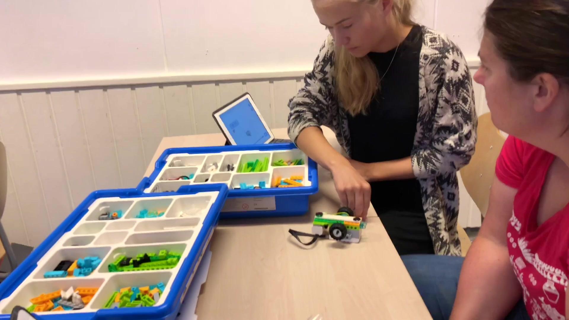 Lego-koding på Tennfjord barneskule