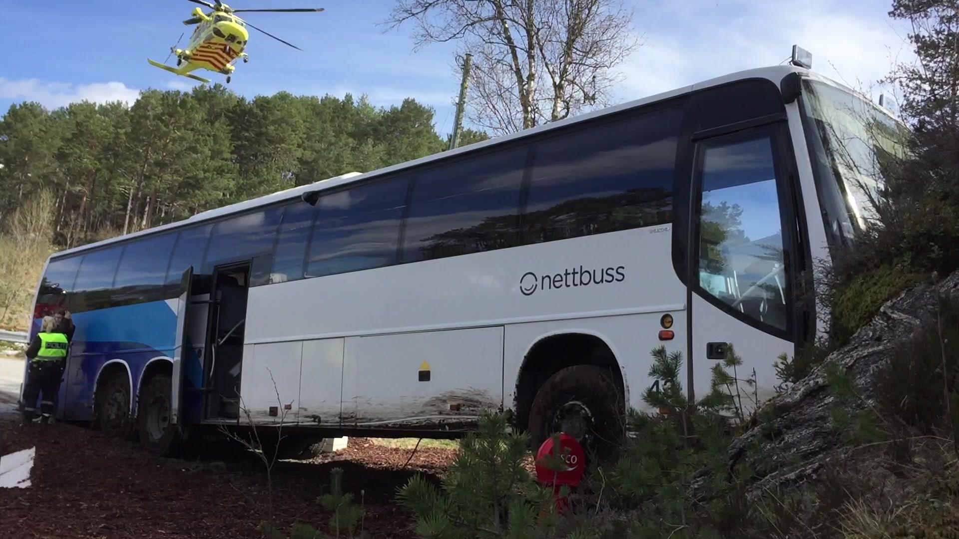 Bussulykke på Skodje
