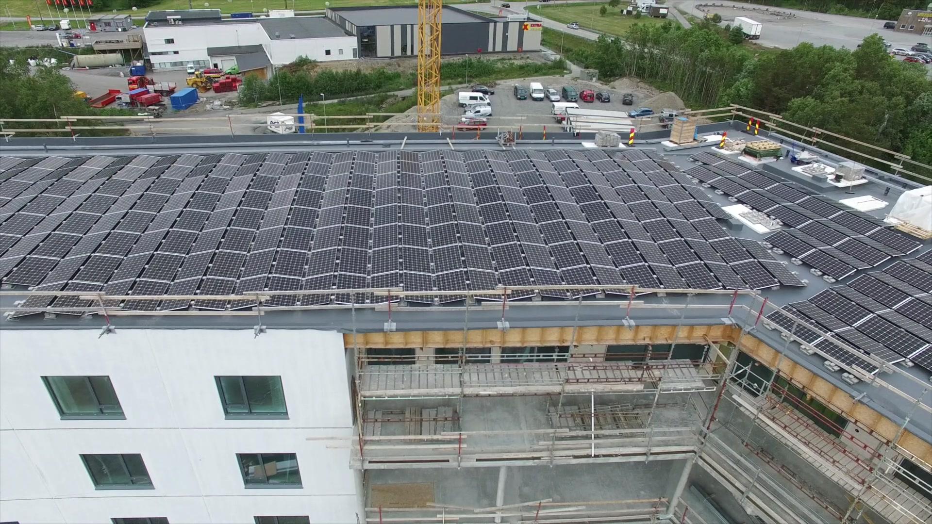 Skal samle solenergi på taket
